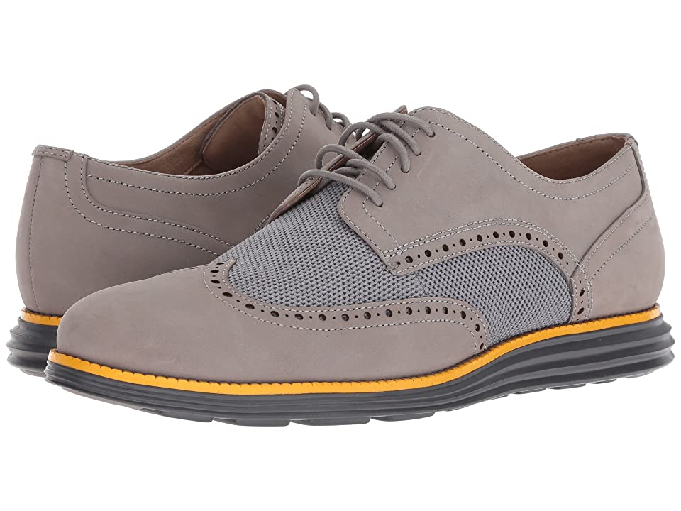 Cole Haan Original Grand Wingtip Oxford (Ironstone Nubuck/Sunglow/Magnet) Men