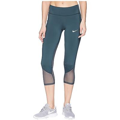Nike Power Racer Cool Crop Pants (Deep Jungle) Women