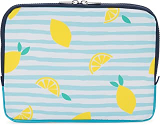 Yumbox Poche - Insulated Sleeve Lunch Box (Amalfi Lemons print); slim and compact, perfect for office and school lunches, to be carried inside a bag or backpack