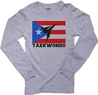 Hollywood Thread Puerto Rico Olympic - Taekwondo - Flag Men's Long Sleeve T-Shirt