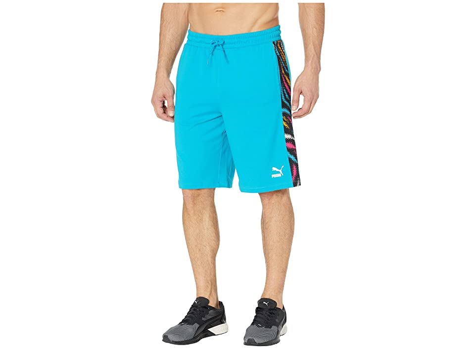 PUMA Wild Pack Shorts (Caribbean Sea) Men's Clothing, Blue