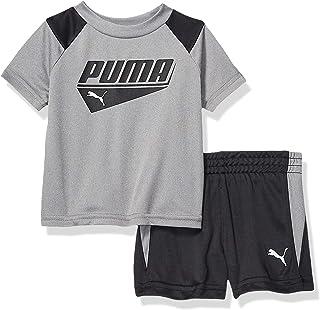 PUMA Baby-Boys 01195765TME-P078 Boys' T-Shirt & Short Set Shorts Set - Gray