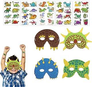 KATOOM Máscaras de Dinosaurio para niños 17pcs Mask Animal Foam Máscaras para Fiestas de Dinosaurios 4