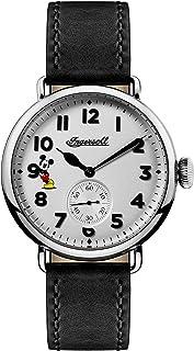 Ingersoll Men 's QuartzステンレススチールandレザーCasual Watch, Color : Black (Model : id01202)