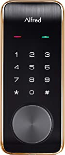 Alfred DB2-B Smart Door Lock Deadbolt Touchscreen Keypad, Pin Code + Key Entry + Bluetooth, Up to 20 Pin Codes (Gold)