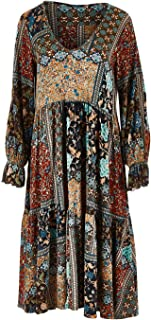 Boho Bird Womens Knee Length Dresses Wind in My Hair Dress Autumn - Dresses