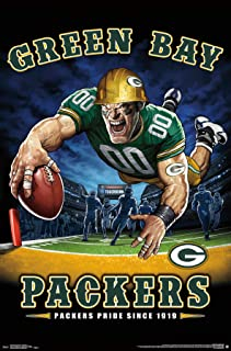 Trends International NFL Green Bay Packers-End Zone Clip Wall Poster, 22.375