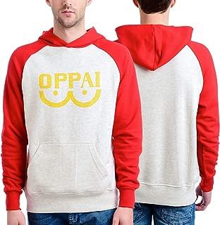 One Punch Man Men's Oppai Pull Over Hooded Sweatshirt