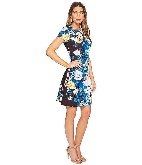 Papell A Adrianna Line Crepe Knit Dress 8dxxH4qw