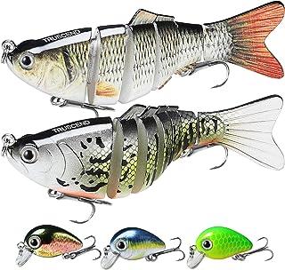 "TRUSCEND Fishing Lures 4~16"" Heavy-Duty Metal Multi Jointed Swimbaits Saltwater Freshwater Bionic Swimming Lures for Bass Catfish Pike Muskie Large Fish Fishing Segmented Lure Kit Lifelike"