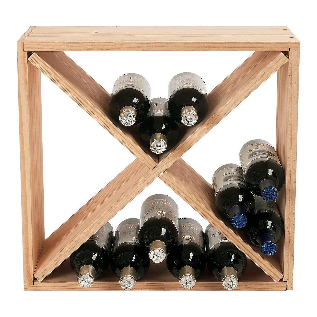 Wine Enthusiast 24 Bottle Compact Cellar Cube Wine Rack, Natural jmdrvmrw2