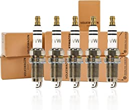 Genuine Spark Plugs, Set of 5 Volkswagen Spark Plugs for 2.5 L Engine, 101 905 601 F, Genuine Set of 5 Vehicle Part Manufactured in Germany fits to Volkswagen Models