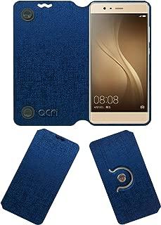 Acm Designer Rotating Flip Case Compatible with Akshat Rivo Rhythm Rx550 Phablet Mobile Stand Cover Blue