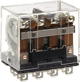Omron LY4-AC240 General Purpose Relay, Standard Type, Plug-In/Solder Terminal, Standard Bracket Mounting, Single Contact, Quadruple Pole Double Throw Contacts, 11 mA at 50 Hz and 9.5 mA at 60 Hz Rated Load Current, 240 VAC Rated Load Voltage