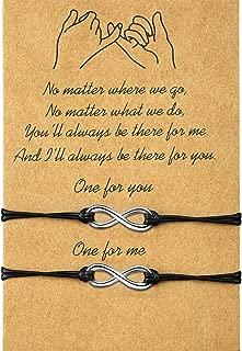 2-Piece Pinky Promise Bracelets Friendship Couple Distance Matching Bracelets Gift for Back to School