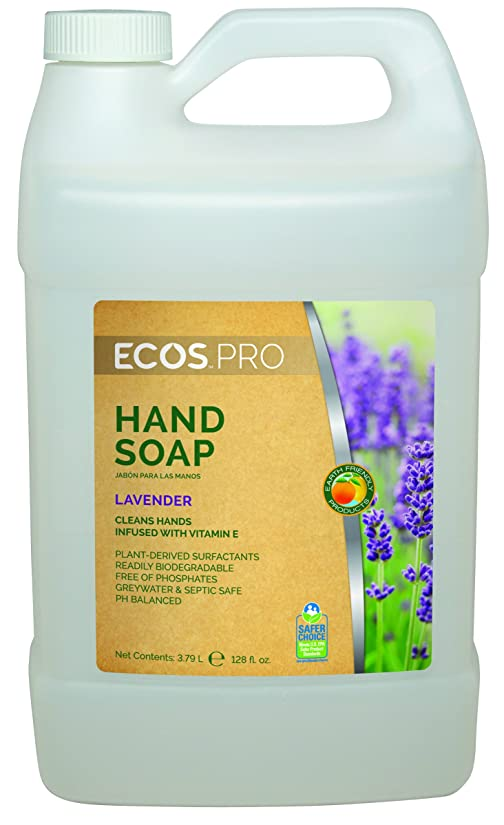 ガイド誇張する染料Earth Friendly Products PL9665/04 Lavender Hand Soap 1 Gallon - Case of 4