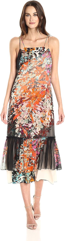 Tracy Reese Womens Overlay Slip Dress