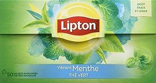 Lipton Thé Vert Menthe 50 Sachets, 80g