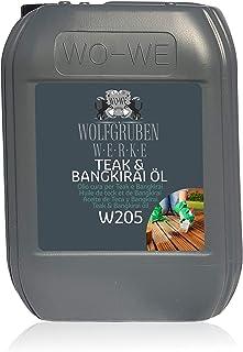 Teak & Bangkirai Pflege Teakholz Bangirai Pflegeöl Holzpflegeöl Holzöl Öl W205-5L