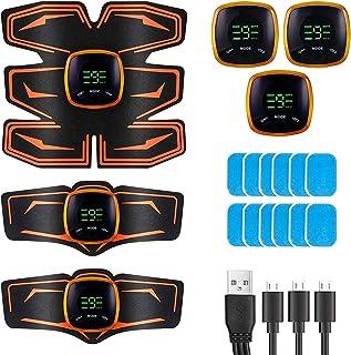 BeauFlw EMS 腹筋ベルト USB充電式 強力腹筋パッド 腹筋トレーニング 腹筋 腕筋 筋トレ 6種類モード 9段階強度 液晶表示 男女兼用 ジェルシート10枚