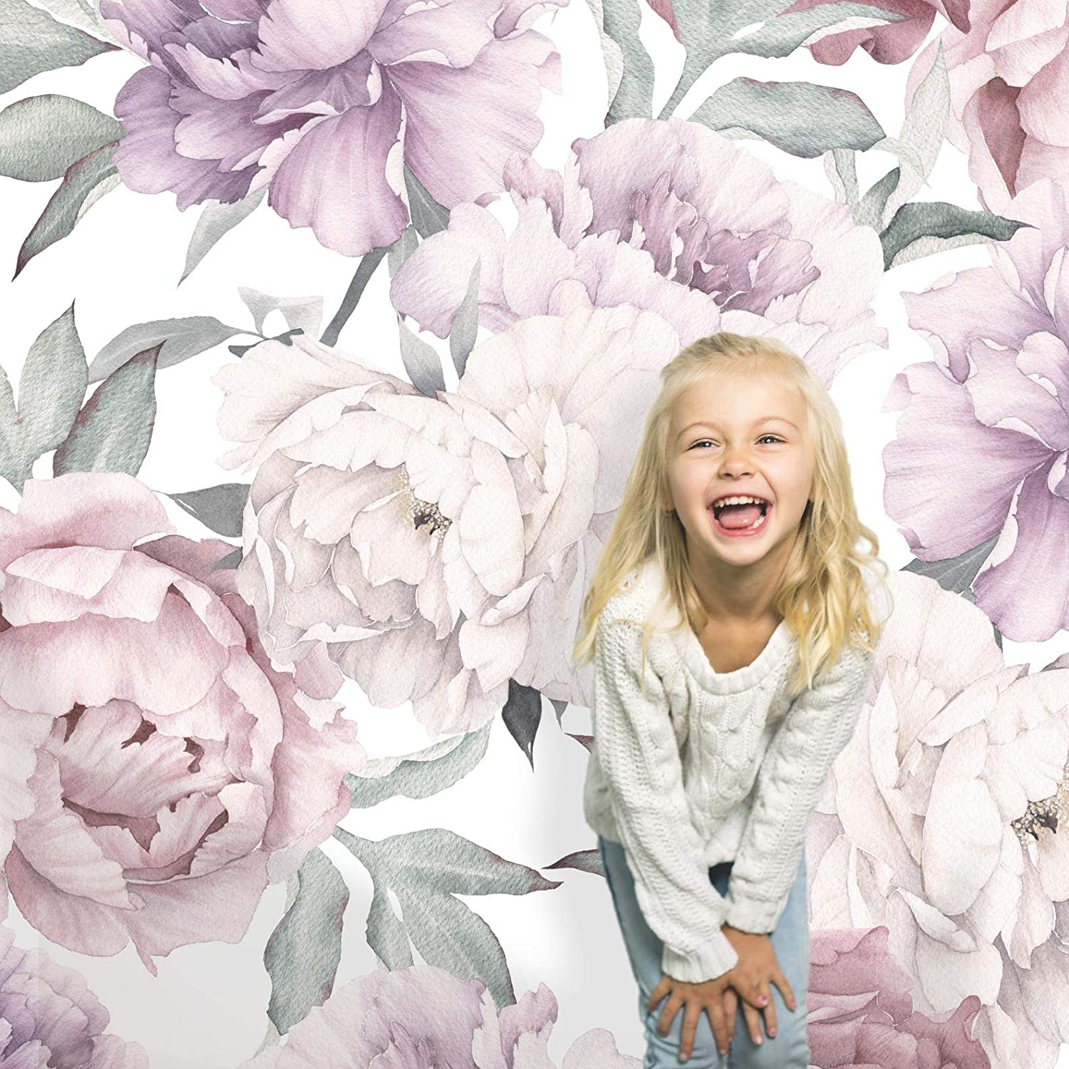 Coloritto Peony Bouquet Peel and Stick Wallpaper   Removable Flo