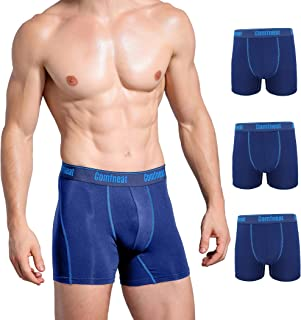 Comfneat Men's 3-Pack or 5-Pack Bamboo Rayon Boxer Briefs Ultra Soft Comfy Underwear no Fly