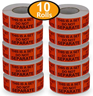 10 Rolls/5000 Labels,This is a Set Do Not Separate,Fluorescent Red FBA Packing Labels(1