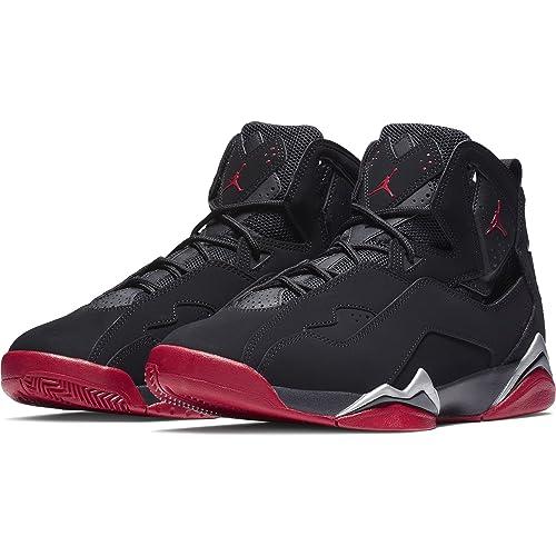 f4d9a7f0ae9c Jordan True Flight Men s Basketball Shoes Black Gym Red-Metallic Silver  342964-001