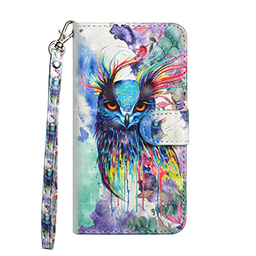 JAWSEU Case Compatible with Samsung Galaxy J5 2017 Premium PU Leather Wallet Flip Case 3D Colourful Pattern Design with Kickstand Card Holder Slot Front and Back Folio Magnetic Cover,Wolf-2