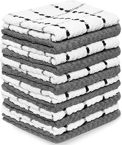 discount Zeppoli Kitchen Towels, 12 Pack - 100% Soft 2021 Cotton - lowest 15 x 25 Inches - Dobby Weave - Great for Cooking in Kitchen and Household Cleaning (12-Pack) online