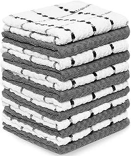 """حوله آشپزخانه Zeppoli، 12 بسته - 100٪ نرم پنبه -15 """"x 25"""" - Dobby Weave - بزرگ برای آشپزی در آشپزخانه و تمیز کردن خانگی (12 بسته)"""