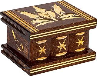 Carved Handmade Secret Wooden Box, Puzzle boxs Boxes The Secret Box, Jewelry Boxes Brain Puzzles, Box Lock Secret Puzzle B...