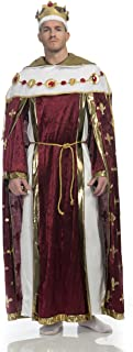 Charades Men's King's Robe Costume and Crown