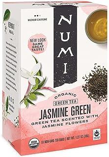 Numi Organic Tea Jasmine Green, 18 Count (Pack of 3) Box of Tea Bags (Packaging May Vary)