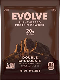 Evolve Protein Powder Packet, Classic Chocolate, 20g Protein, 5 Count