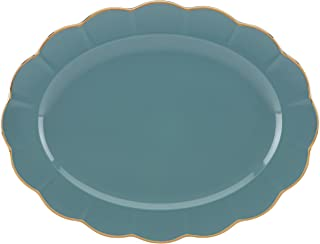 Marchesa Shades of Teal Oval Platter by Lenox