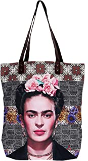 Akitai Frida Kahlo Flower headband Purse - Shoulder - Travel Tote ? Boho - Handbag - Womens Bag Frida Fans Costume Collection