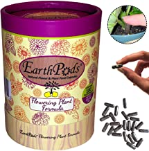 EarthPods Premium Bloom Flowering Plant Food - Easy Organic Fertilizer Spikes - 100 Capsules - Boost Flower Blossoms (Great for Annuals, Roses, Bougainvillea, Hibiscus, Plumeria, Bulbs, Ecofriendly)