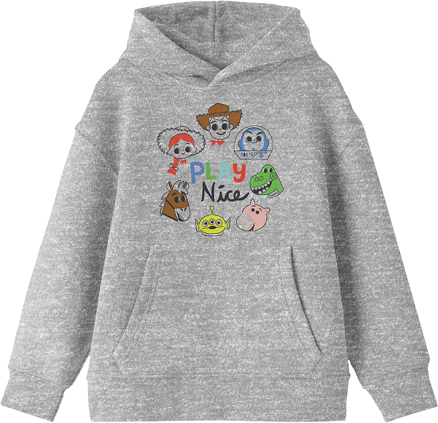 Toy Story Chibi San Jose Mall Time sale Characters Hoodie Youth Gray Heather