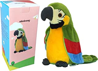 TTalking Parrot No Matter What You Say Will Repeat What You Say Funny Learning Good Helper Bring You Happiness!Parrot toys! Speaking parrot.Talking Parrot Funny Pronunciation Electric Animal Plush Toy