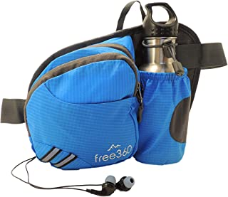 BeFree360 Fanny Pack with Water Bottle Holder-Hiking Running Dog Walking Travel Cycling Holds iPhone8 Plus