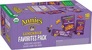 Annie's Homegrown Granola Bars, Baked Snack Crackers, Fruit Snacks Variety Pack, 18 ct, purple