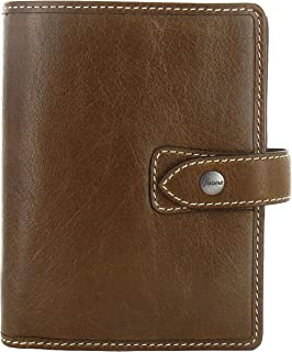 Filofax Malden Pocket Organizer, Leather, Ochre, 4.75 x 3.25 (C025842-2019)