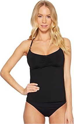 Laundry by Shelli Segal Solid Cinched Front Tankini