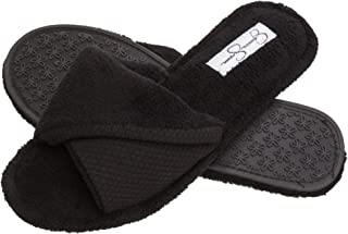 Jessica Simpson Womens Cozy Slide On Slippers, Plush Indoor Shoe