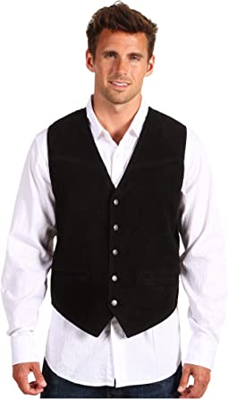 Suede Vest with Buckle Back
