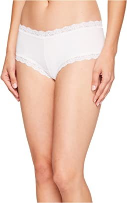 Organic Cotton Boyshort w/ Lace