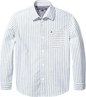acbc94886 Tommy Hilfiger Shirt for Boys - Blue & White 10 Years