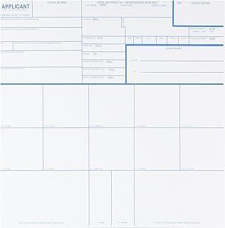 Federal Bureau of Investigation CS-10PK Fingerprint Cards, Applicant Fd-258, Pack of 10