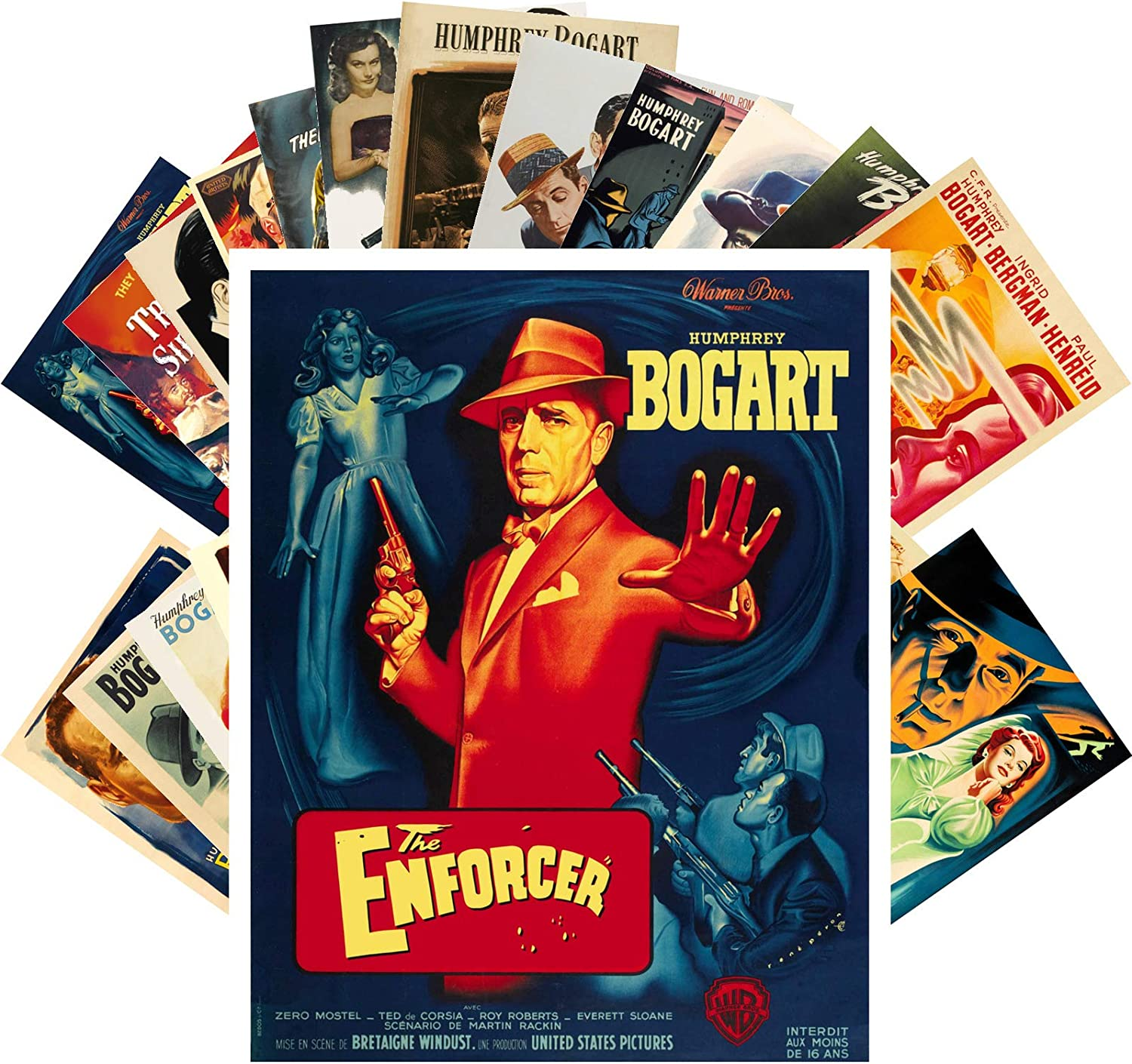 Postcard Set 24 Limited price Limited price sale cards HUMPHREY Movies Posters BOGART Vintage